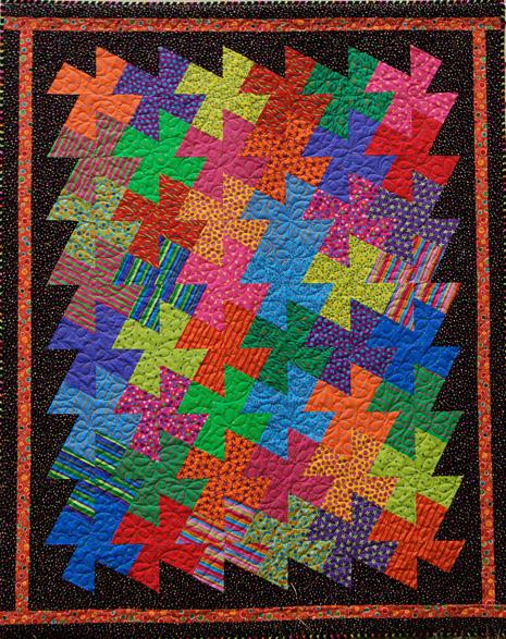 Free Printable Pinwheel Quilt Pattern : Pinwheels Kit Kookaburra Cottage Quilts